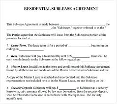 Apartment Sublease Template Simple Sublease Agreement Cycling Studio