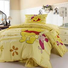 cartoon world happy winnie the pooh cotton 3 piece twin size duvet cover