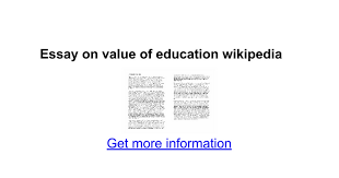 essay on value of education google docs