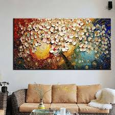 wall art abstract paintings modern oil painting on canvas home decoration living room pictures handpainted no framed hf0010 in painting calligraphy from