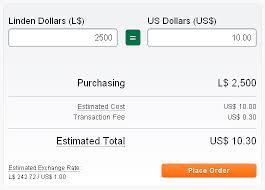 Current Usd Linden Exchange Rate Merchants Second