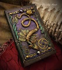 mystical gothic steunk inspired old world book style dragon box