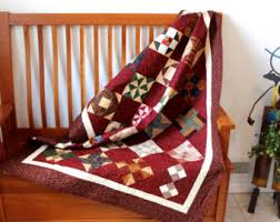 Modern Bright Quilted Lap Throw Cottage Chic Ombre Fabrics & Patchwork Quilted Lap Throw Farmers Wife Sampler Quilt Farm House Decor  Wedding Gift Dorm Quilt Fiber Adamdwight.com