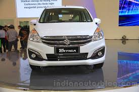 2018 suzuki ertiga. interesting ertiga 2015 suzuki ertiga facelift front at the gaikindo indonesia international  auto show intended 2018 suzuki ertiga a