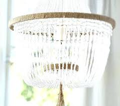 crystal beaded chandelier pottery barn kids white diy daily find wood bead garland 8 light crystal bead chandelier beaded gemstone