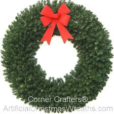 6 foot 72 inch wreath without lights with large red bow