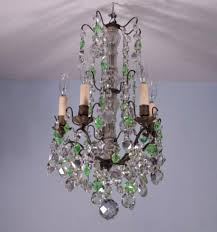 antique glass chandelier french antique bronze amp crystal uranium glass chandelier or hanging lamp 62064d97a7d860f78c4766dcc7792c9b images