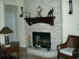 brick fireplace beams mantel cover updated styles with faux stone up wooden m l f