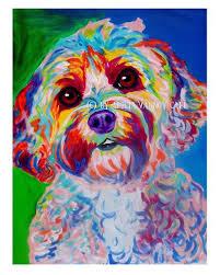 colorful dog painting paint color ideas