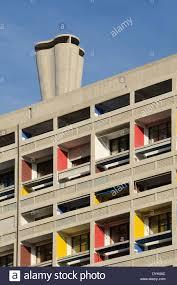 Balcons Colorés Cité Radieuse Ou Unité Dhabitation Et De