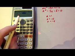 solving quadratic equations casio fx