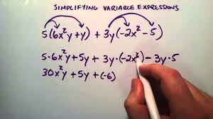 simplifying variable expressions example 2 interate algebra lesson 25 you