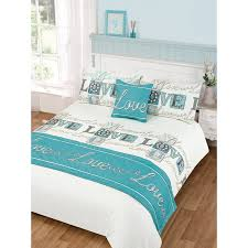 image of duvet cover teal set double