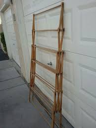 large vintage wooden folding clothes drying rack flamingo decatur area for in las vegas nv offerup