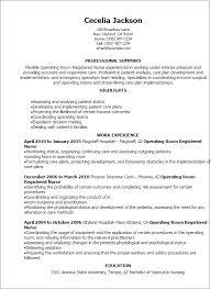 Registered Nurse Resume Simple Operating Room Registered Nurse Resume Template Best Design Tips