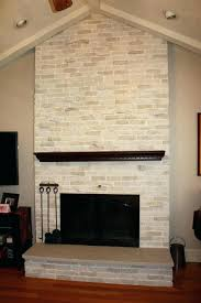 covering brick fireplace with shiplap covering brick fireplace after makeover whitewashed traditional floor to ceiling brick