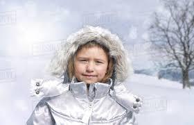 portrait of young girl wearing winter coat