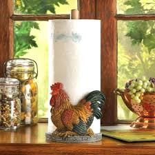 country rooster paper towel holder kitchen farmhouse unbranded accessories themed