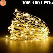 Warm White Led String Lights White Wire Details About 10m 33ft 100 Led Copper Wire String Fairy Light Lamp Christmas Party Warm White