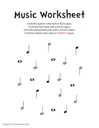 Preschool Music Worksheets - Checks Worksheet