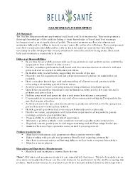 Resume Job Description Best of Nail Technician Resume Example Manicurist Templates Nail Technician