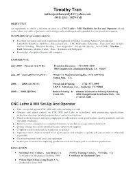Sample Machinist Resumes Resume For Cnc Machinist Machinist Resume Samples Free For 7