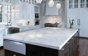 image of white marble kitchen carrera countertop cost carrara per square foot
