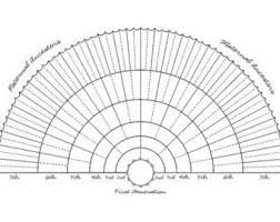 Ancestor Fan Chart Family Tree Charts With Blanks You Fill In Personal Family