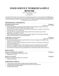 Examples Of Education On Resume Food Service Resume Professional ...
