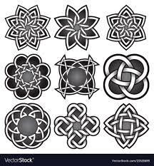 Celtic Rope Designs Set Of Logo Symbols In Celtic Knots Style