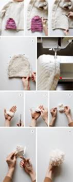 4 how to make a hat from an old sweater warm diy