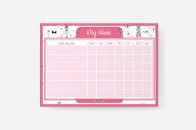 Atp Chart A4 Kids Chart Ballerina Design Atp Creative Design