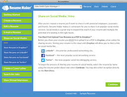 home resumemaker for mac create a professional resume you can e mail and share on linkedin facebook and