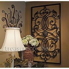 extra large 61 wall art iron scroll oversize indoor or outdoor on extra large metal outdoor wall art with large outdoor metal wall art amazon
