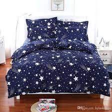 blue bed set meteor shower stars blue bedding set soft polyester duvet cover bed set twin