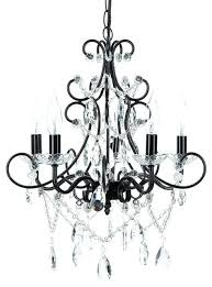 5 light wrought iron crystal chandelier black chandeliers