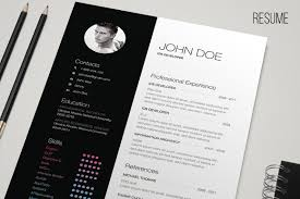 Free Resume Template Indesign BW Resume Resume Templates Creative Market 41