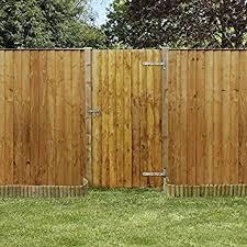 nova 6 x 3 feather edge garden gate garden gates fencing amazon co uk garden outdoors