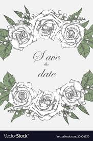 Flowers Templates Wedding Card Suite With Vintage Flower Templates