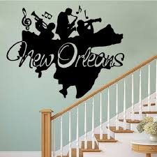 s new orleans jazz wall art mural decor jazz band wall applique poster home decal decoration