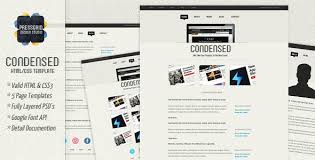 Google Site Templates Condensed Html Template