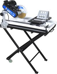 wet tile saw with stand
