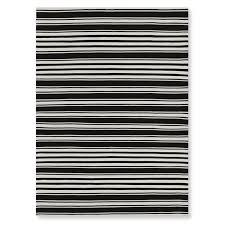 riviera stripe indoor outdoor rug 9x12 black