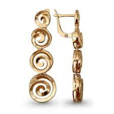 <b>Длинные</b> висячие <b>золотые серьги</b> без камней покупайте по ...