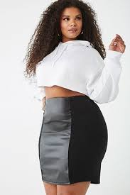 Plus Size Faux Leather Skirt | Plus size fashion, Fashion, Plus size outfits