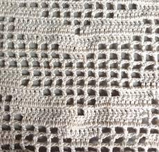 Crochet Curtain Begin With A Design For A Filet Crochet Curtain