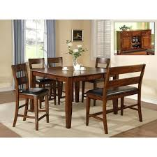 pub table set with bench. pub height dining table with bench more views mango 6 piece set l