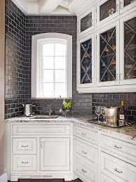 a kitchen with old world charm meets modern amenities pantry throughout metallic subway tile decorations 17