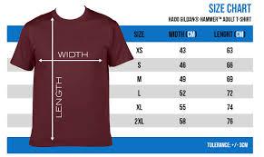 Gildan Hammer Size Chart Gildan T Shirt Size Chart In Cm Agbu Hye Geen