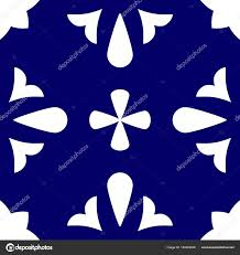 Blue And White Decorative Tiles Tile Indigo Blue White Decorative Floor Tiles Vector Pattern 42